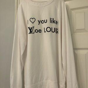 I love you like I love louis white tee